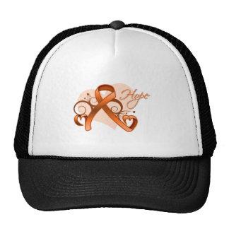 Kidney Cancer Floral Ribbon of Hope Trucker Hat