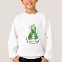 Kidney Cancer FLOWER RIBBON 1 (Green) Sweatshirt