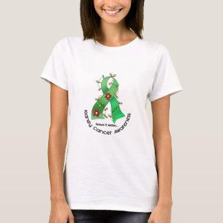 Kidney Cancer FLOWER RIBBON 1 (Green) T-Shirt