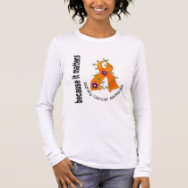 Kidney Cancer Flower Ribbon 3 Long Sleeve T-Shirt