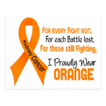 Kidney Cancer For Every…..I Proudly Wear Orange 1 Postcard