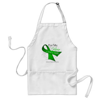 Kidney Cancer For My Hero I Wear a Ribbon Aprons