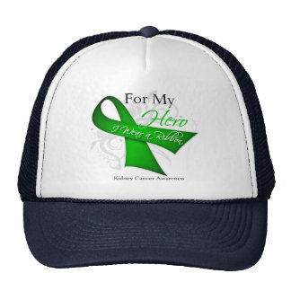 Kidney Cancer For My Hero I Wear a Ribbon Trucker Hat