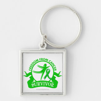 Kidney Cancer - Freedom From Cancer Survivor Silver-Colored Square Keychain
