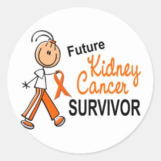 Kidney Cancer Future Survivor SFT Classic Round Sticker