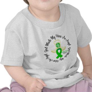 Kidney Cancer God Made My Hero An Angel (Green) T-shirt