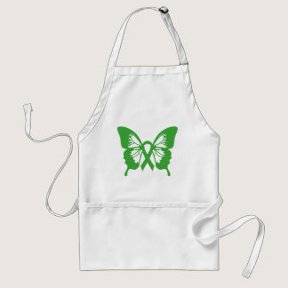 Kidney Cancer Green Butterfly apron