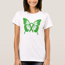Kidney Cancer Green Butterfly t-shirt