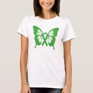 Kidney Cancer Green Butterfly t-shirt