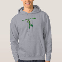 Kidney Cancer Green Ribbon Hoodie