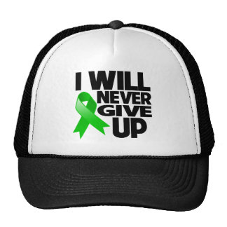 Kidney Cancer (Green Ribbon) I Will Never Give Up Trucker Hat