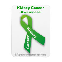Kidney Cancer Green Ribbon Magnet