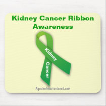 Kidney Cancer Green Ribbon Mouse Pad