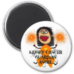 Kidney Cancer Guardian Angel 2 Inch Round Magnet