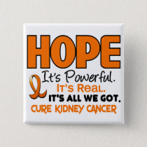 Kidney Cancer HOPE 1 Pinback Button