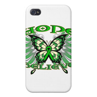 Kidney Cancer Hope Believe Butterfly 2 Cases For iPhone 4