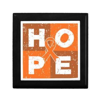 Kidney Cancer HOPE Cube Trinket Box