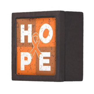 Kidney Cancer HOPE Cube Premium Keepsake Boxes
