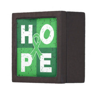 Kidney Cancer HOPE Cube Premium Keepsake Box