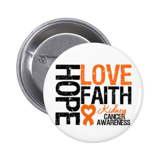 Kidney Cancer Hope Love Faith 2 Inch Round Button