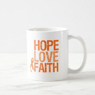 Kidney Cancer Hope Love Faith Awareness Mugs
