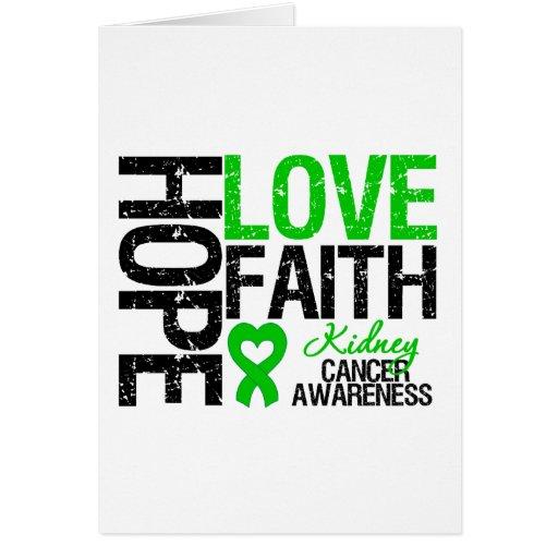 Kidney Cancer Hope Love Faith Card