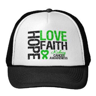 Kidney Cancer Hope Love Faith Trucker Hat