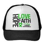 Kidney Cancer Hope Love Faith Mesh Hat