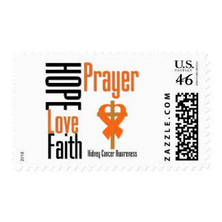 Kidney Cancer Hope Love Faith Prayer Cross Postage Stamp