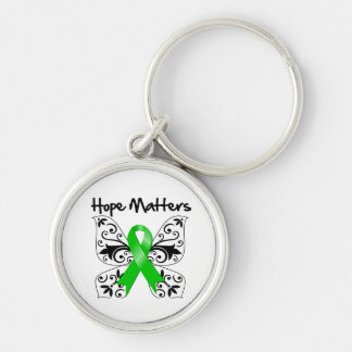 Kidney Cancer Hope Matters Silver-Colored Round Keychain