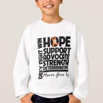 Kidney Cancer Hope Support Advocate v2 Sweatshirt