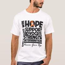 Kidney Cancer Hope Support Advocate v2 T-Shirt