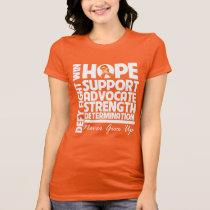 Kidney Cancer Hope Support Strength v2 T-Shirt