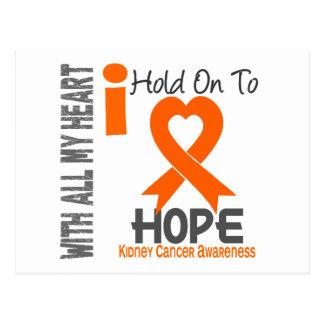 Kidney Cancer I Hold On To Hope Postcard