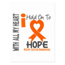 Kidney Cancer I Hold On To Hope Postcard