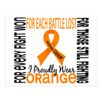 Kidney Cancer I Proudly Wear Orange 2 Postcard