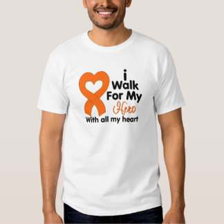 Kidney Cancer I Walk For My Hero 2 T-Shirt