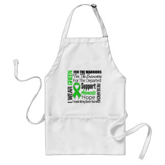 Kidney Cancer I Wear Green Ribbon TRIBUTE Apron