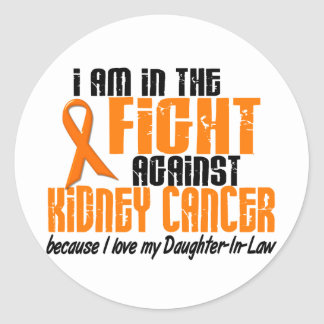 KIDNEY CANCER In The Fight For My Daughter-In-Law Classic Round Sticker