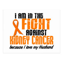 KIDNEY CANCER In The Fight For My Husband 1 Postcard