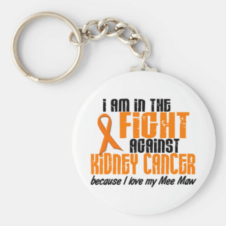 KIDNEY CANCER In The Fight For My Mee Maw 1 Basic Round Button Keychain
