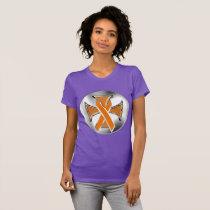 Kidney Cancer Iron Cross Ladies Jersey T-Shirt
