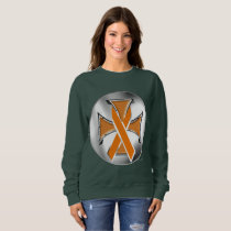Kidney Cancer Iron Cross Ladies Sweatshirt