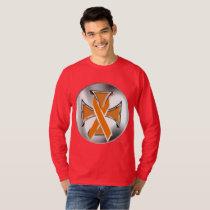 Kidney Cancer Iron Cross Men's Long Sleeve T-Shirt