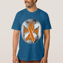 Kidney Cancer Iron Cross Men's Organic T-Shirt