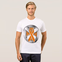 Kidney Cancer Iron Cross Men's Poly-Cotton T-Shirt