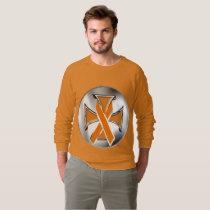 Kidney Cancer Iron Cross Men's Raglan Sweatshirt
