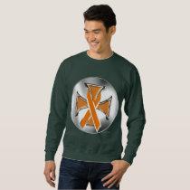 Kidney Cancer Iron Cross Men's Sweatshirt