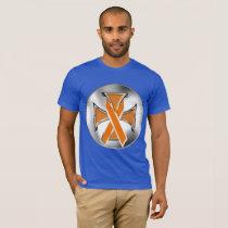 Kidney Cancer Iron Cross Men's T-Shirt