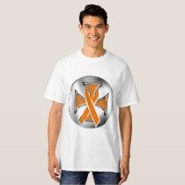 Kidney Cancer Iron Cross Men's Tall T-Shirt